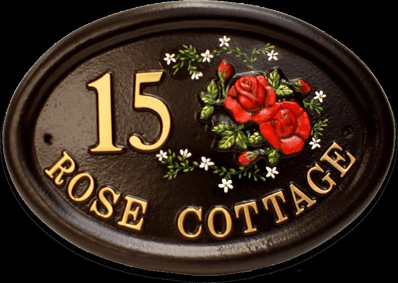 Roses Split house sign