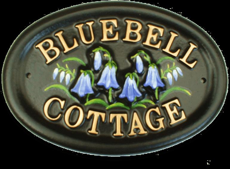 Bluebell house sign