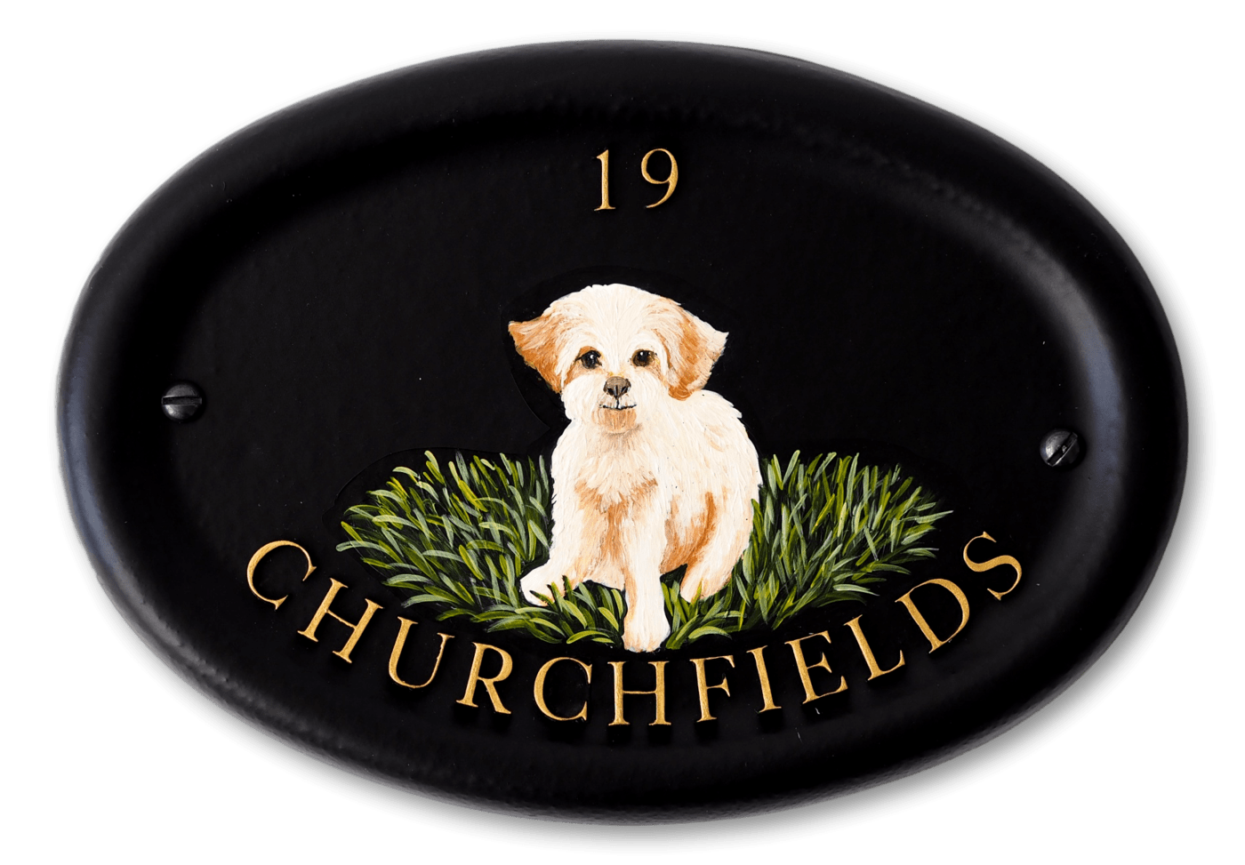 Bichon Frise Flat Painted house sign