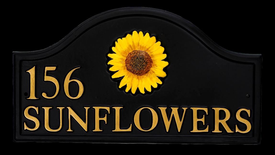 Sunflower Split house sign