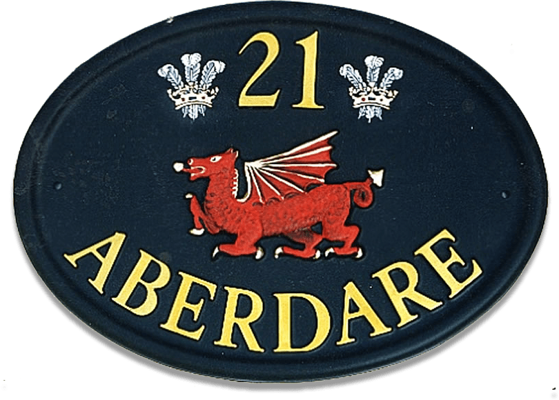 Dragon Welsh house sign