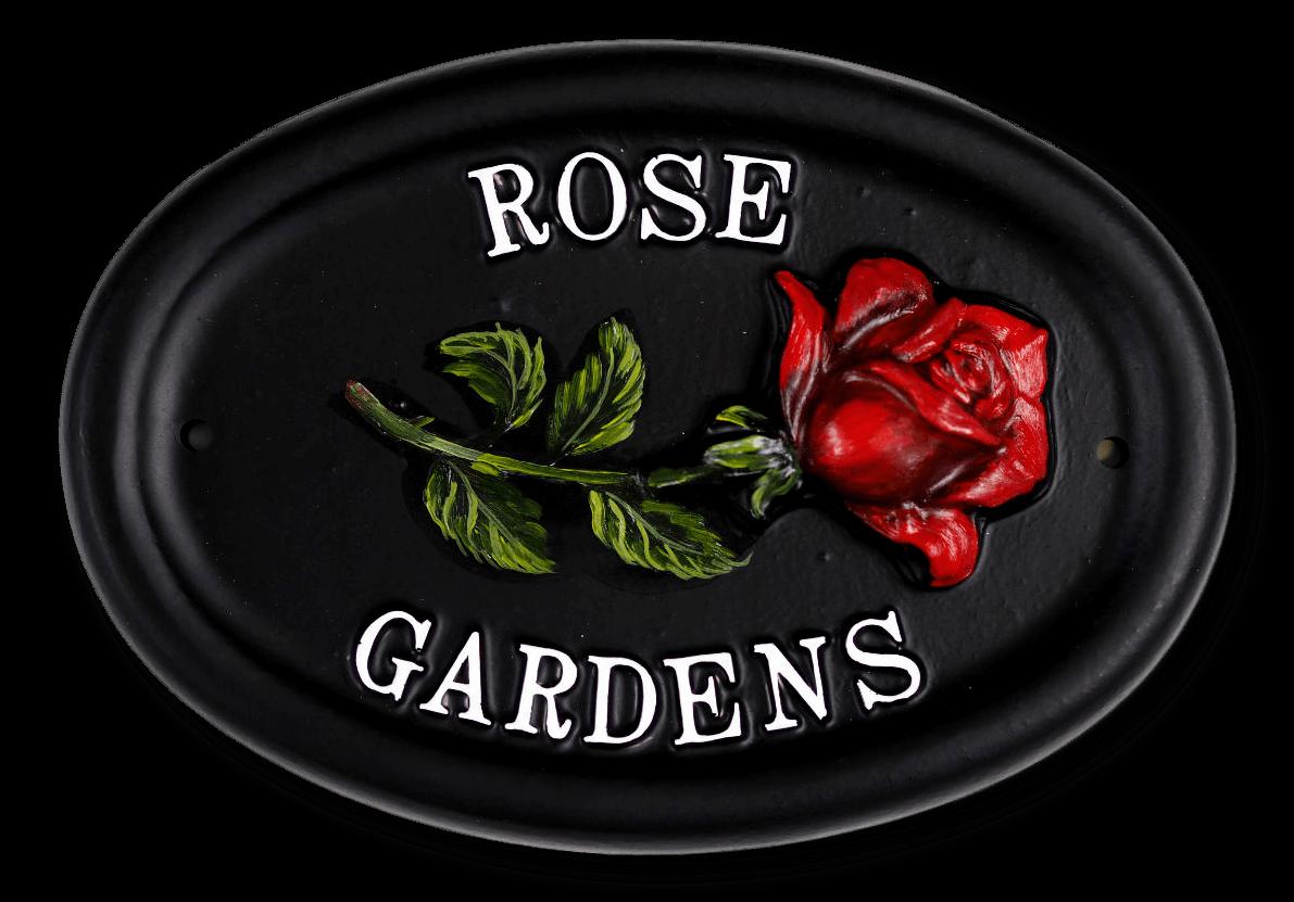 Rose Single house sign