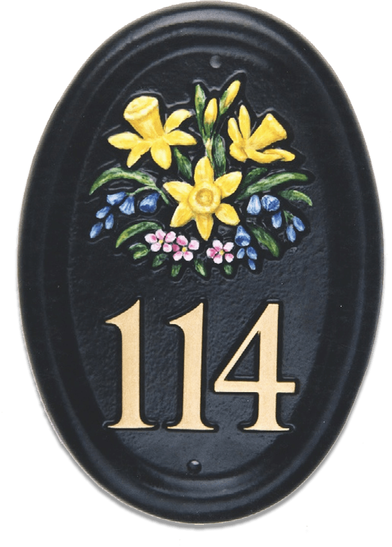 Spring Flowers house sign