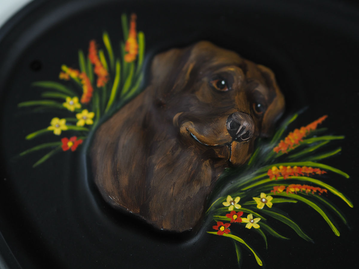Labrador Head Chocolate Close Up house sign