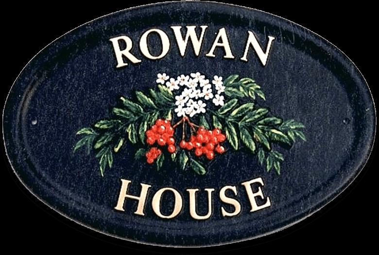 Rowan Berries house sign