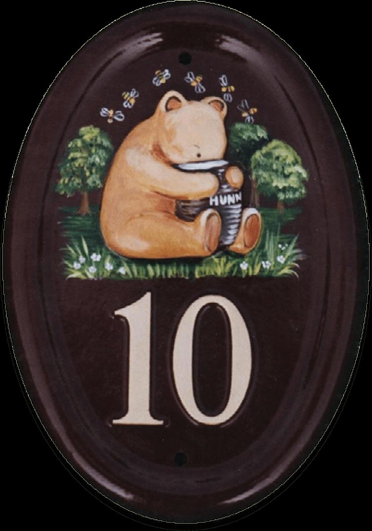 Pooh Bear Sitting house sign