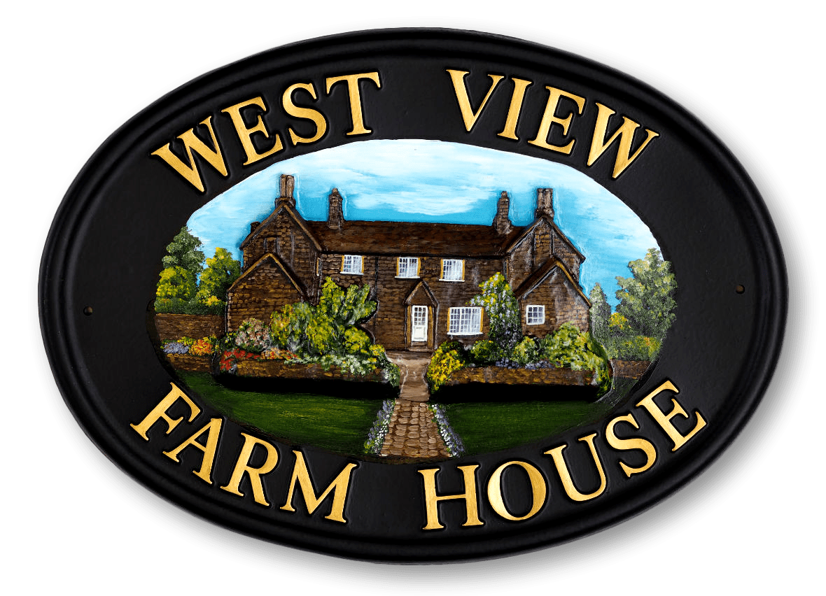 Farmhouse house sign
