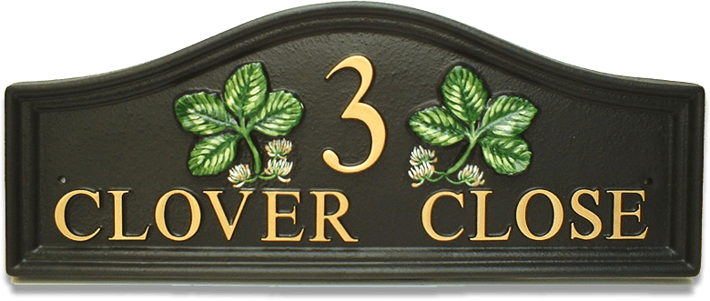 Clover Split house sign