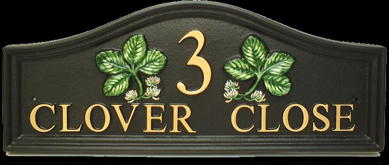 Clover Split house sign