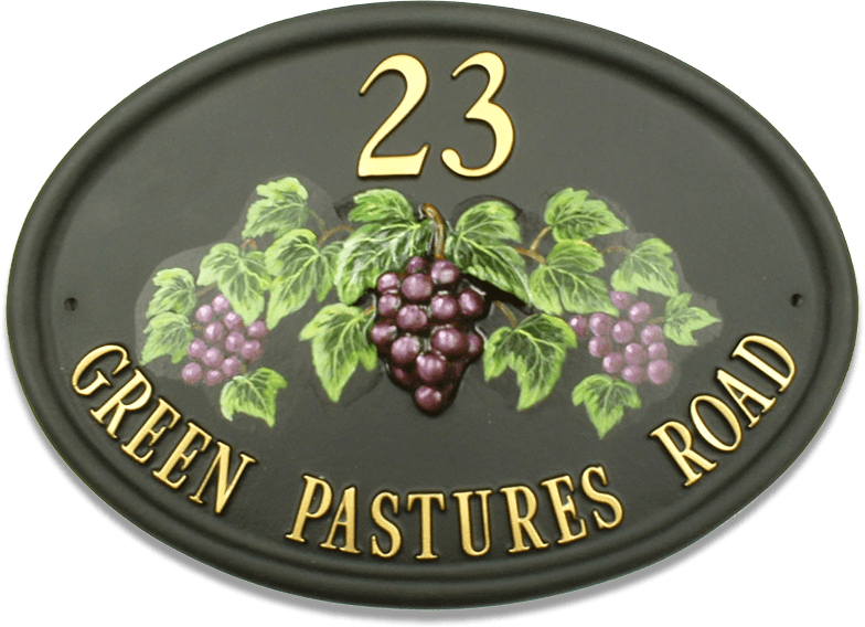 Grapes house sign