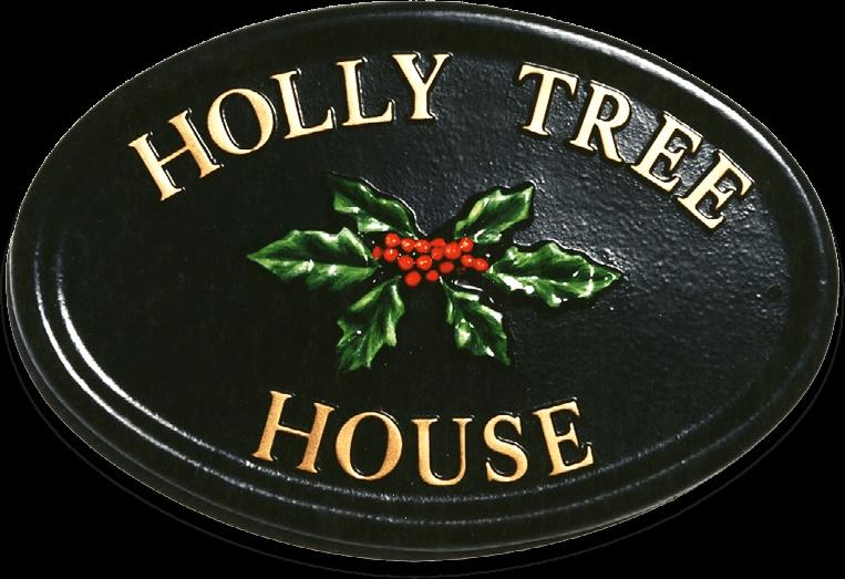 Holly house sign