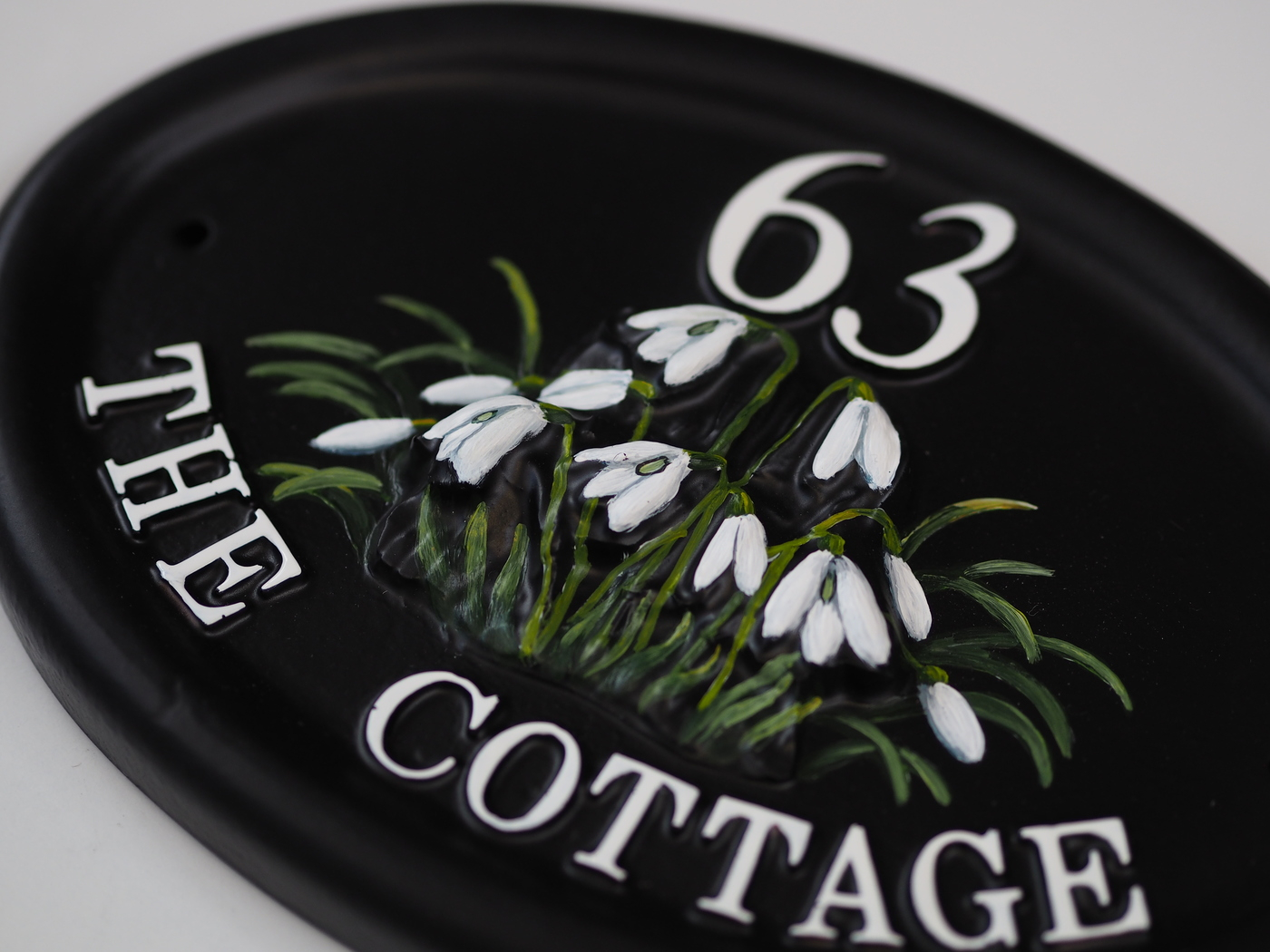 Snowdrops Close Up house sign