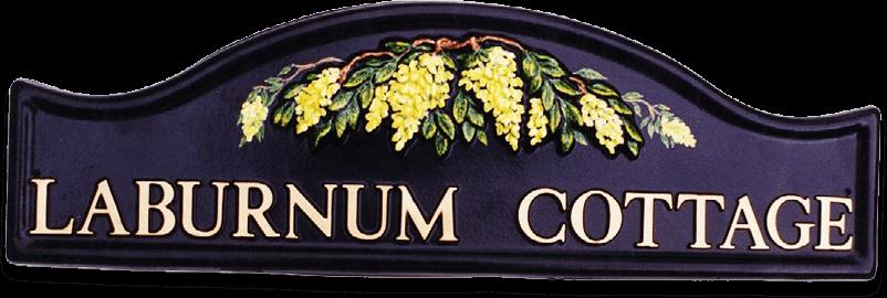 Laburnum house sign