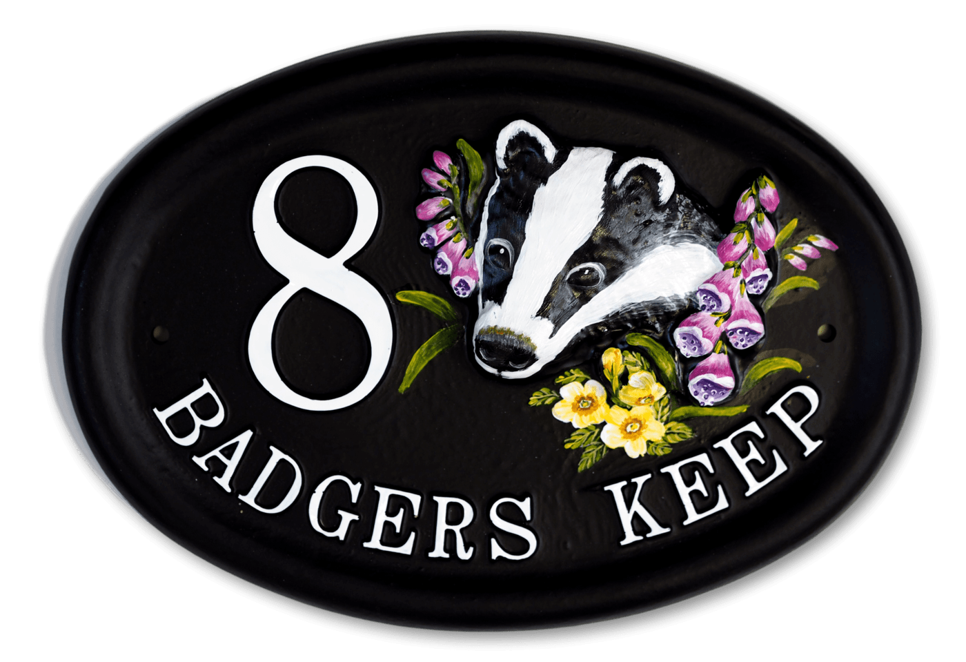 Badger house sign