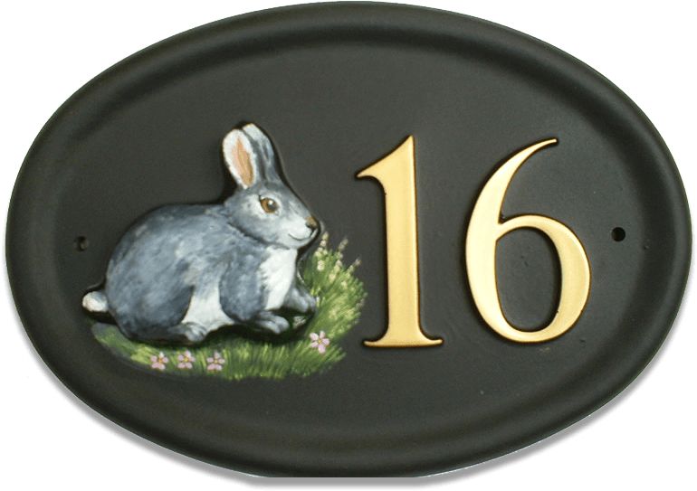 Rabbit Grey house sign