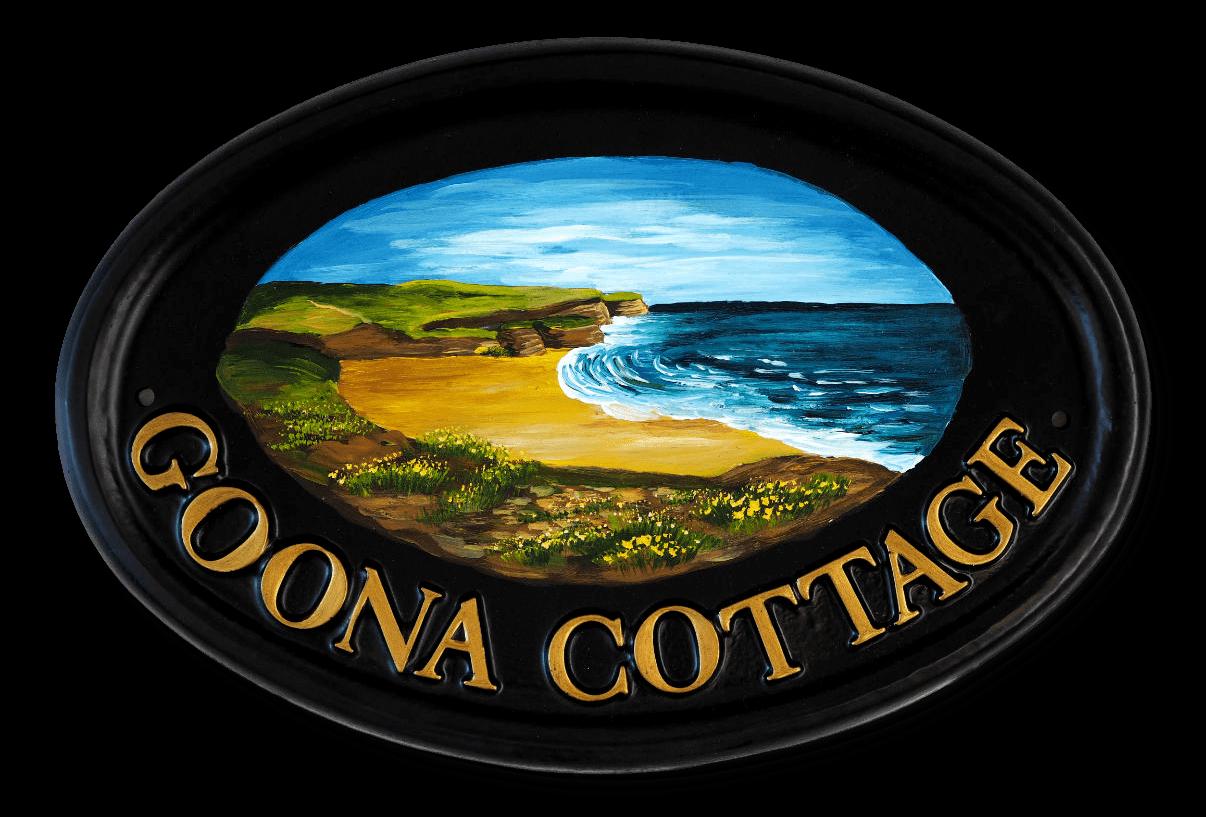 Coastal Scene house sign