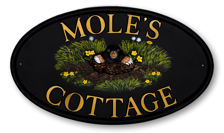 Mole house sign