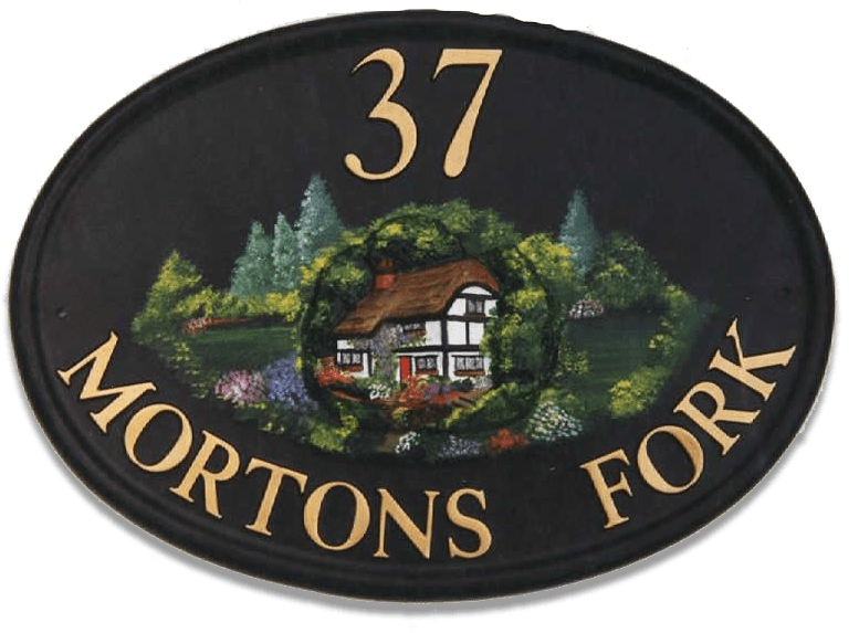 Cottage house sign
