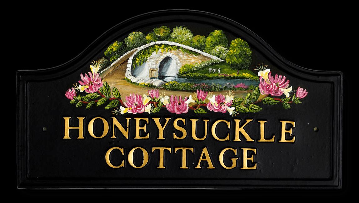 Honeysuckle & Bridge house sign