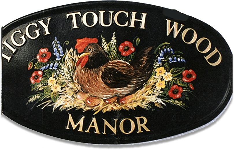Hen Flat Painted house sign