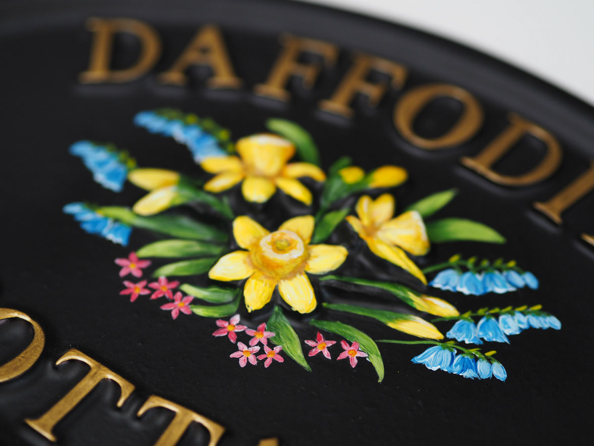 Daffodils Close Up house sign