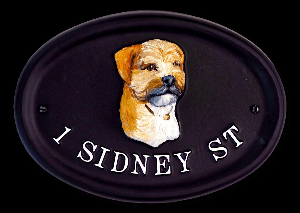 Border Terrier house sign