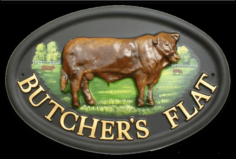 Bull house sign