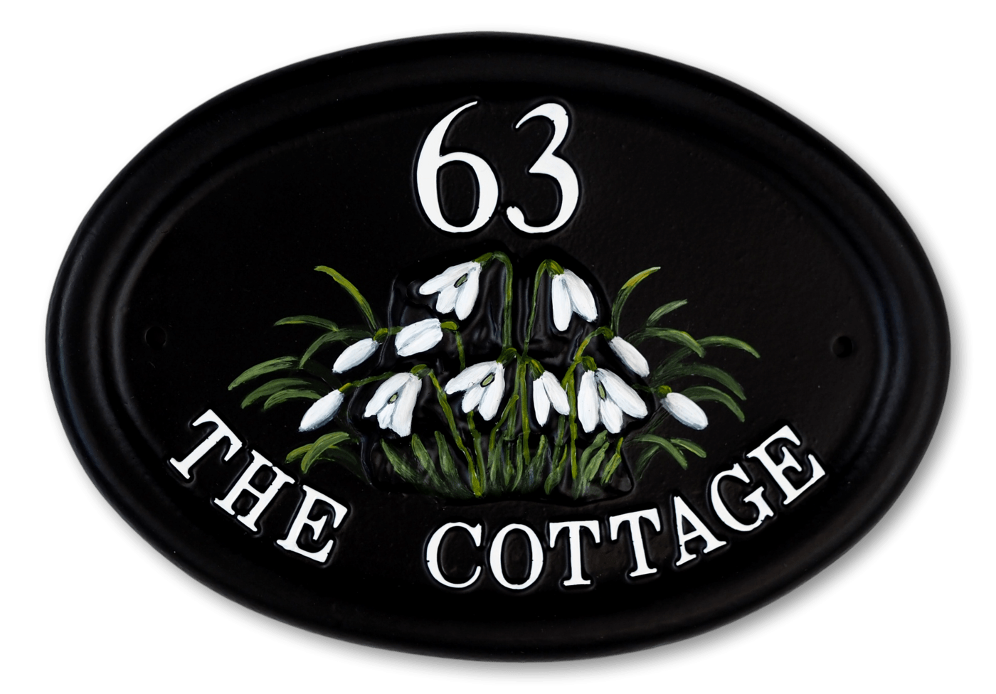 Snowdrops house sign