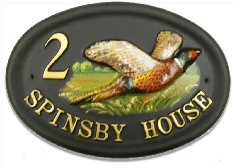 Pheasant Small Split Layout house sign