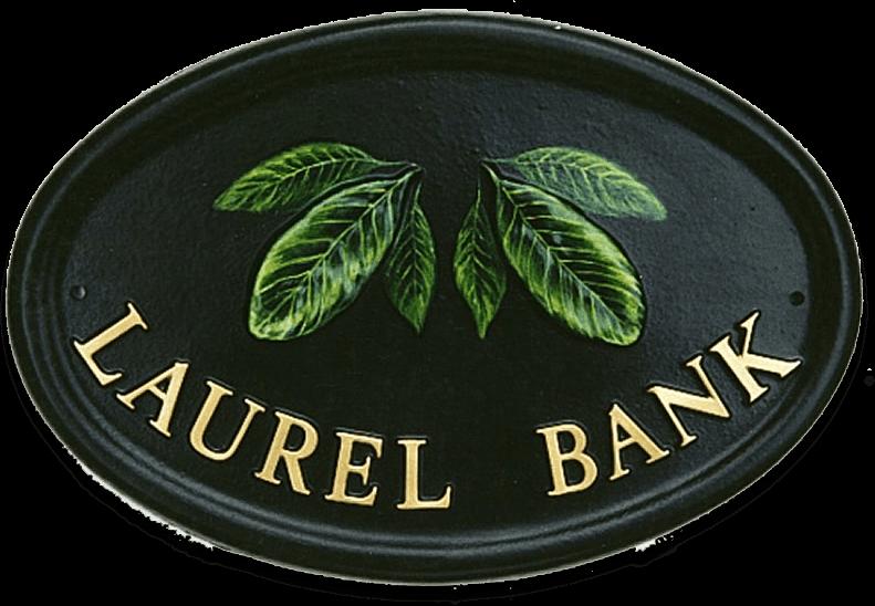 Laurel Leaves house sign