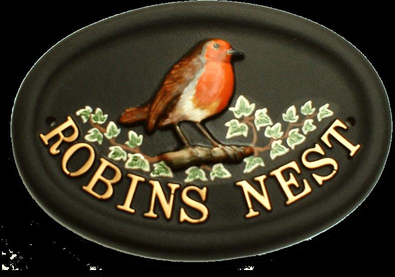 Robin house sign