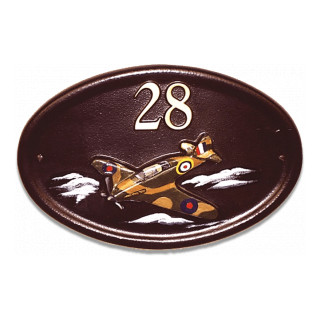 Plane Spitfire Miscellaneous House Sign house sign