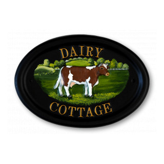 Cow Animal House Sign house sign