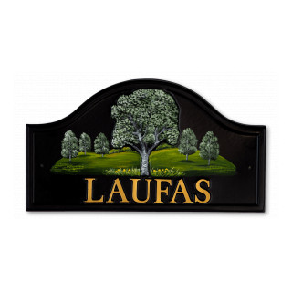 Silver Birch Tree House Sign house sign