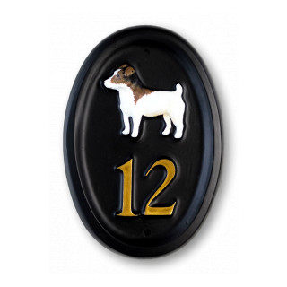 Jack Russell Full Dog House Sign house sign