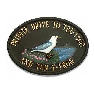 Seagull Bird House Sign house sign