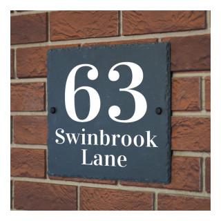 Swinbrook Slate House Sign house sign