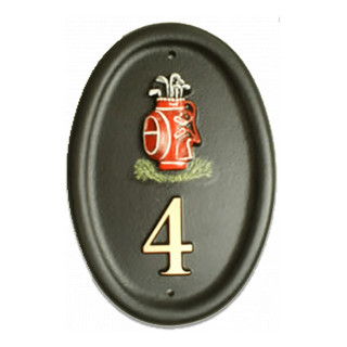 Golf Bag Miscellaneous House Sign house sign