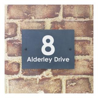 Alderley Slate House Sign house sign