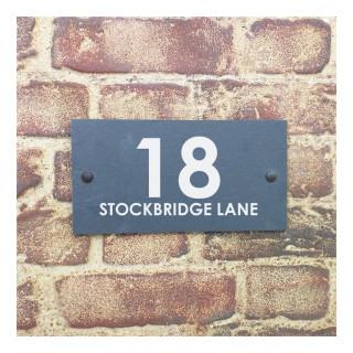 Stockbridge Slate House Sign house sign