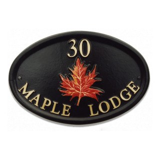 Maple Leaf Tree House Sign house sign