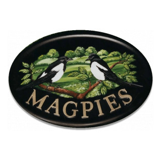 Magpies Flat Painted Bird House Sign house sign