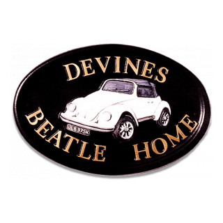Car Vw Beetle Miscellaneous House Sign house sign