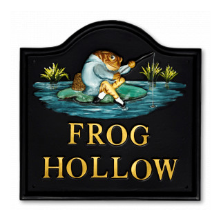 Toad Jeremy Fisher Water Scene House Sign house sign