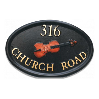 Music Violin Miscellaneous House Sign house sign