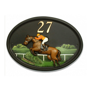 Jumps Horse Horse house sign