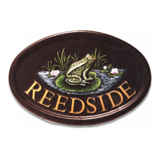 Frog Water Scene House Sign house sign