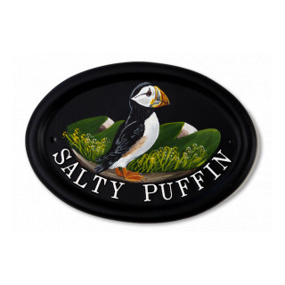 Puffin Flat Painted Bird House Sign house sign