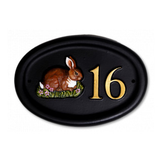 Rabbit Small Animal House Sign house sign
