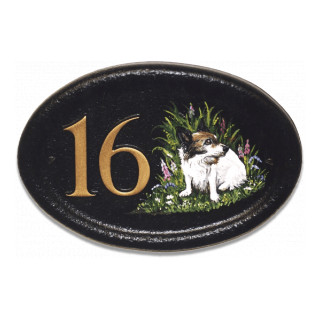Jack Russell Flat Painted Dog house sign